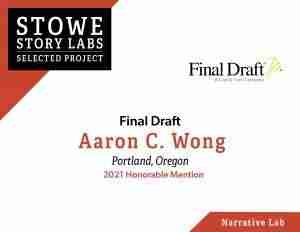 Stowe Story Labs 2021 Selected Project Final Draft Honorable Mention - Garamba
