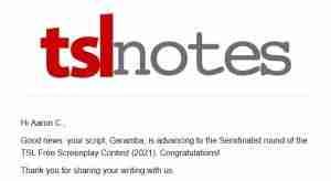 The Script Lab 2021 Free Screenplay Contest Semifinalist